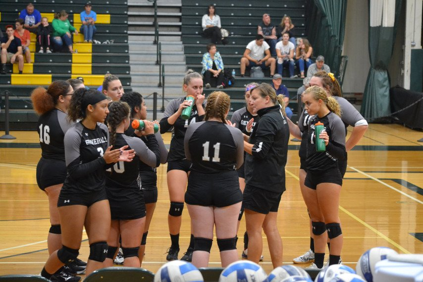 Volleyball Huddle vs NCCC