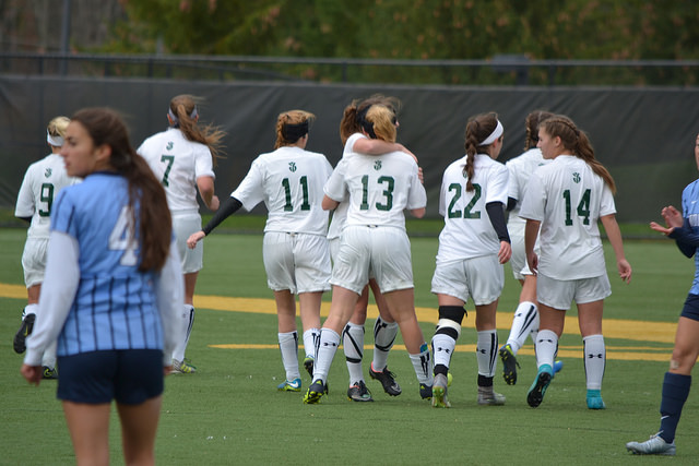 Womens soccer win over nassau